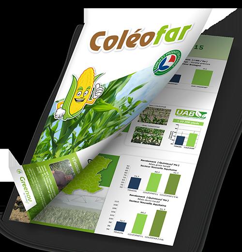 plaquette presentation produit Coleofar cereales et legumes de la marque Greenov